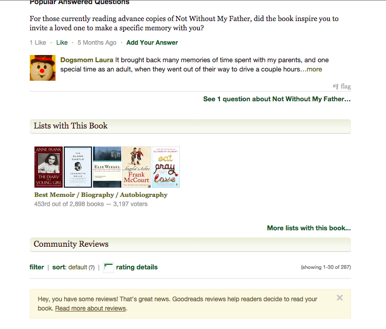 vote goodreads not without my father