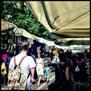 shopping at milan street market