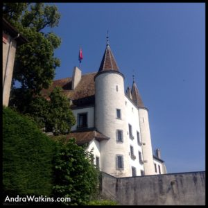 Nyon Castle is a medieval fortress on the banks of Lake Geneva.
