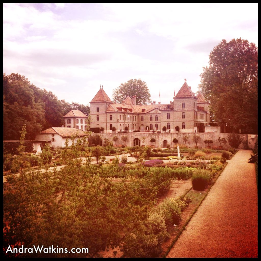 chateau on my way from nyon to gland, switzerland